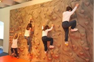 muro di arrampicata